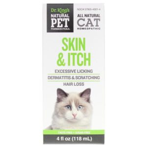 Skin and Itch Control for Cat King Bio Natural Pet Pharmaceuticals 4 oz